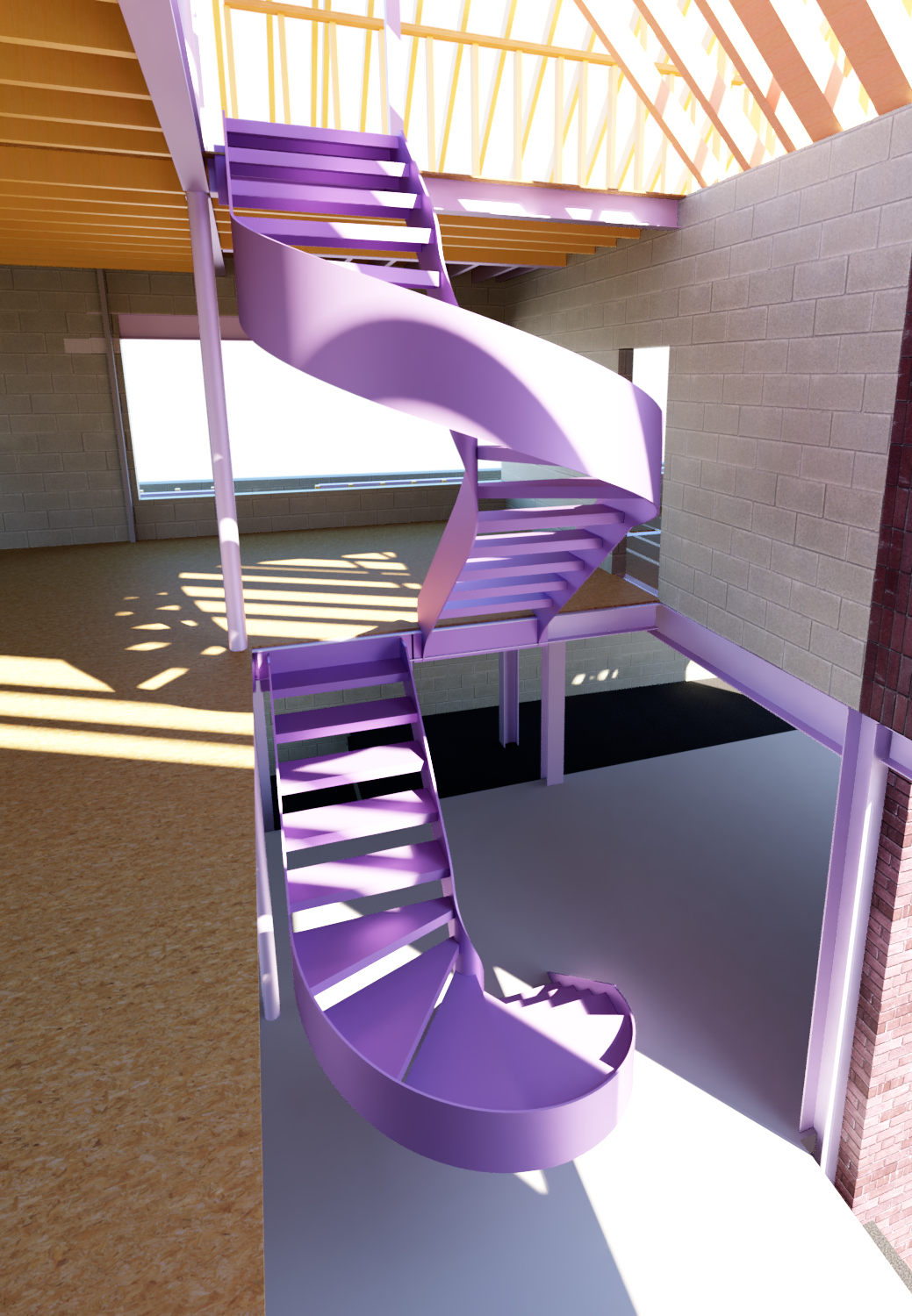 Double Floating Scissor Staircase – North London